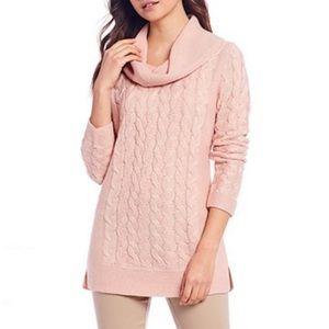 Calvin Klein Braided Knit Crowl Neck Sweater